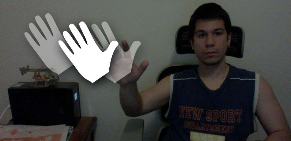 Kinect hand cursor example