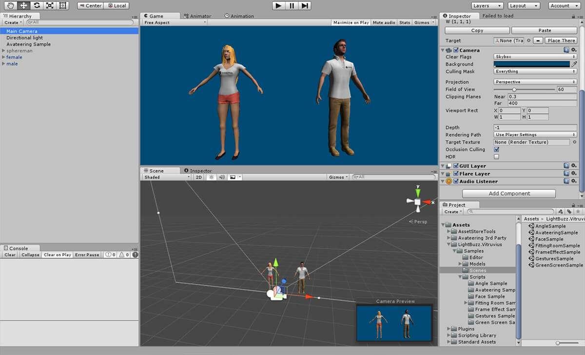 Vitruvius Avateering Unity Editor