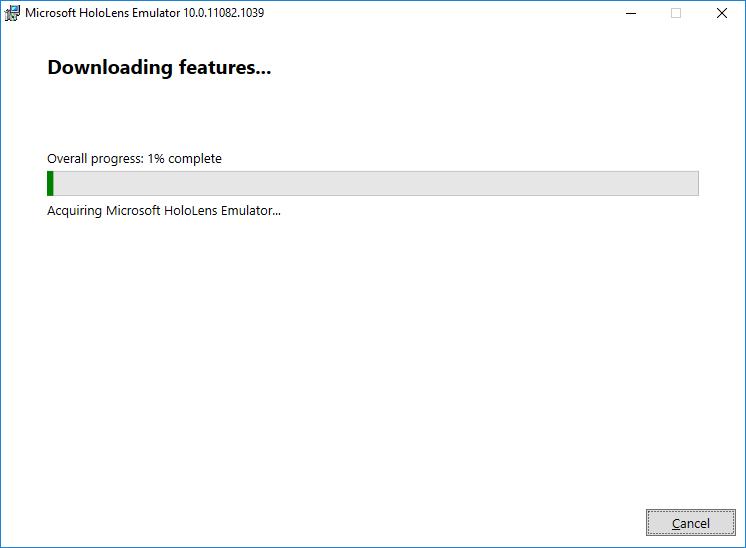 Hololens Emulator installation