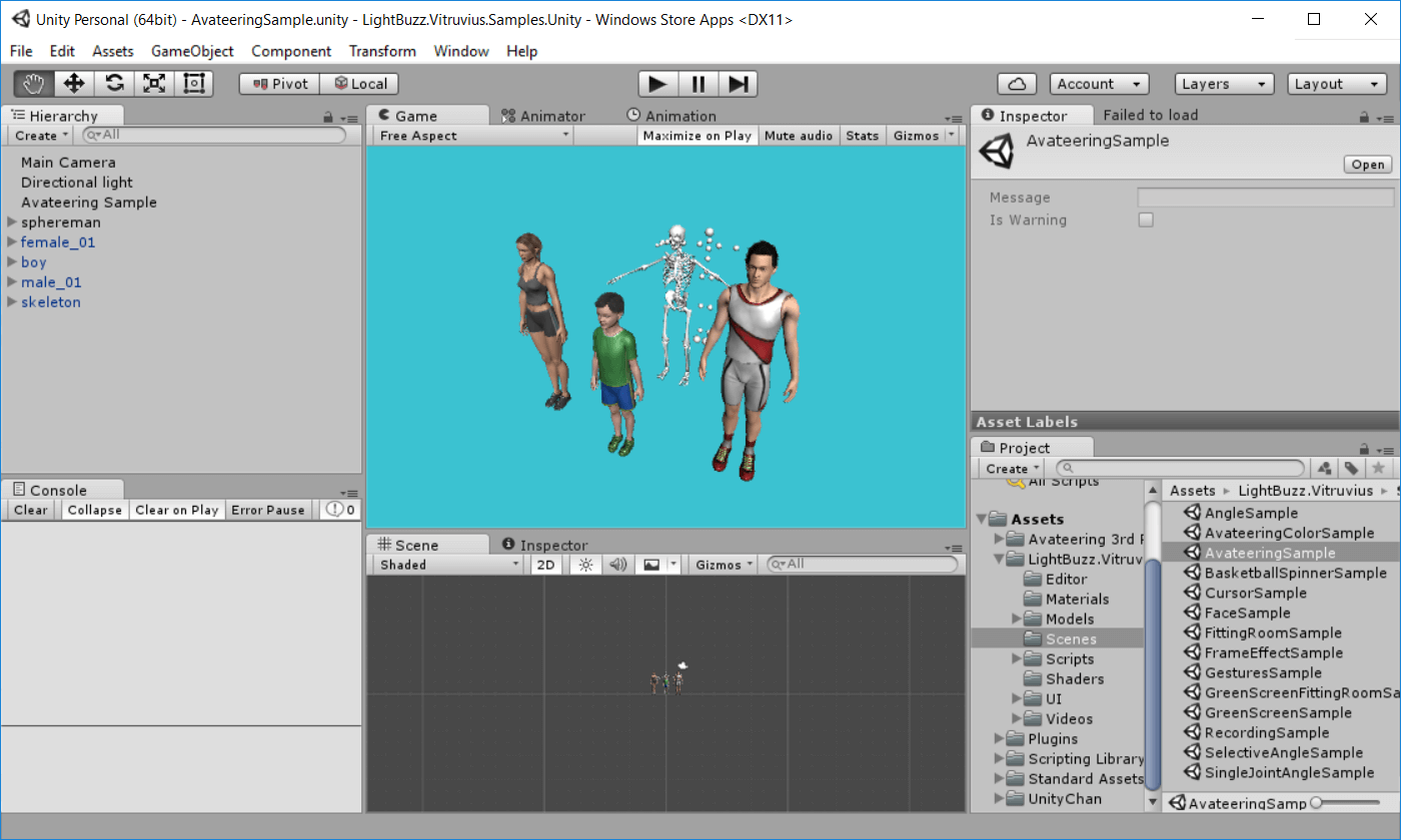 Export your Unity Kinect project for Windows Store | Vangos