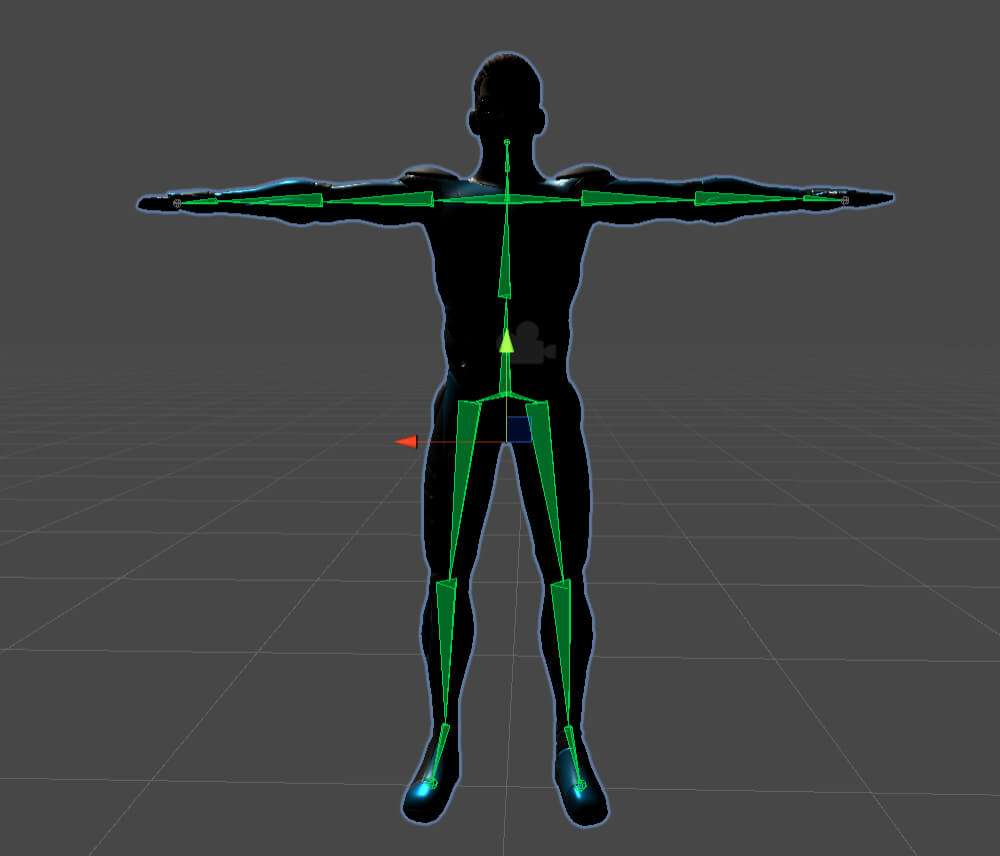 Azure Kinect 3D model skeleton